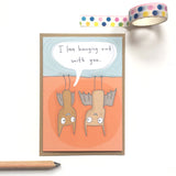 Bats Hanging Out Card