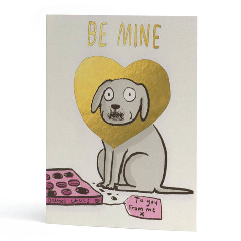 Be Mine Dog Foiled Card