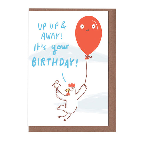 Up up and away! Birthday Card