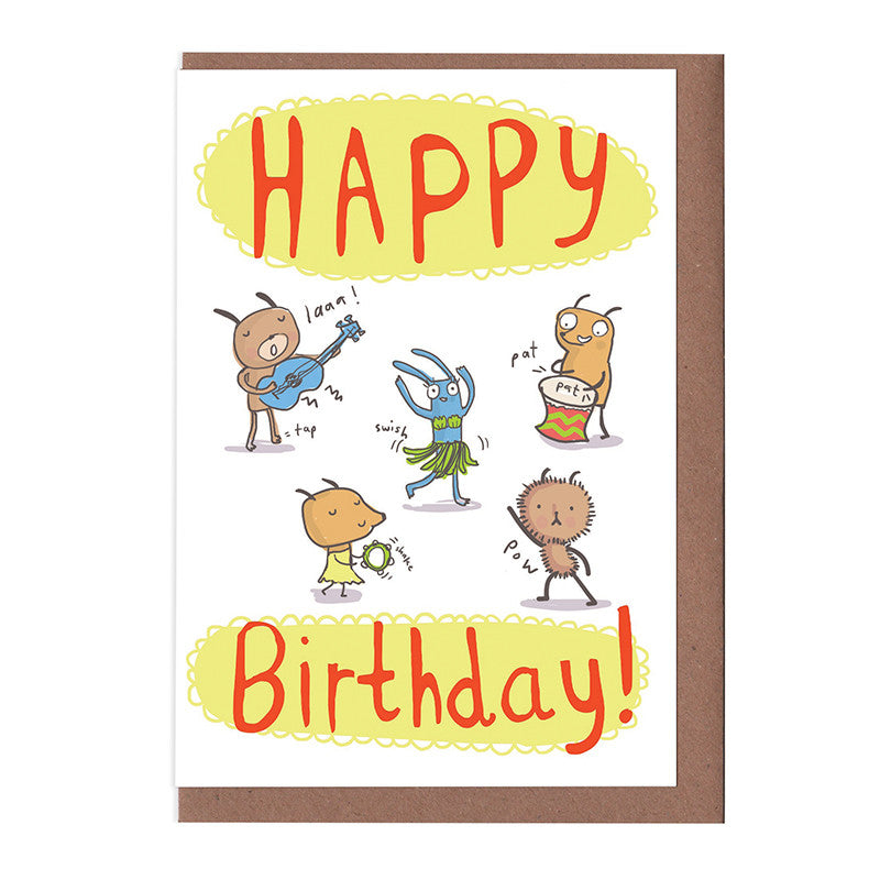 Happy Birthday Dancing Card