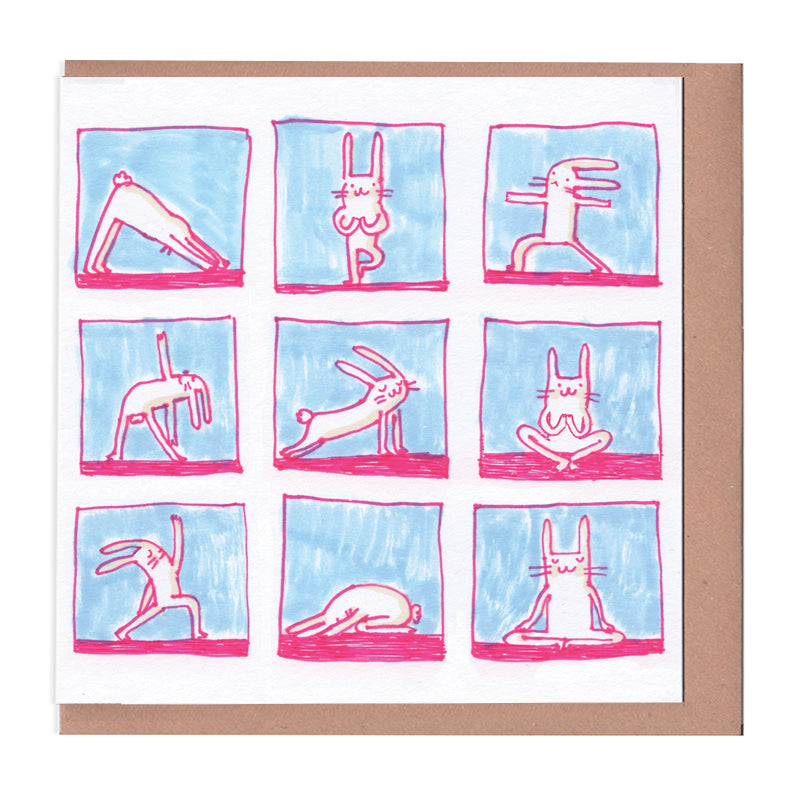 Yoga Rabbit Greeting Card