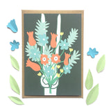 Rabbit with Flowers card