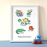 Personalised Favourite things Print