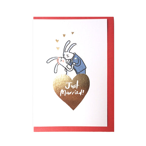 Just Married Gold Foiled Card