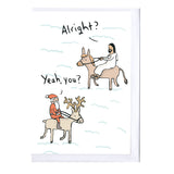Jesus and Father Christmas Card