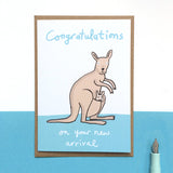 New Baby Kangaroo Card