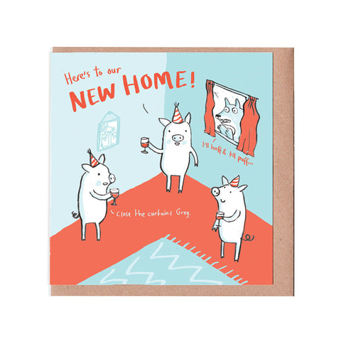 Pigs New Home Card