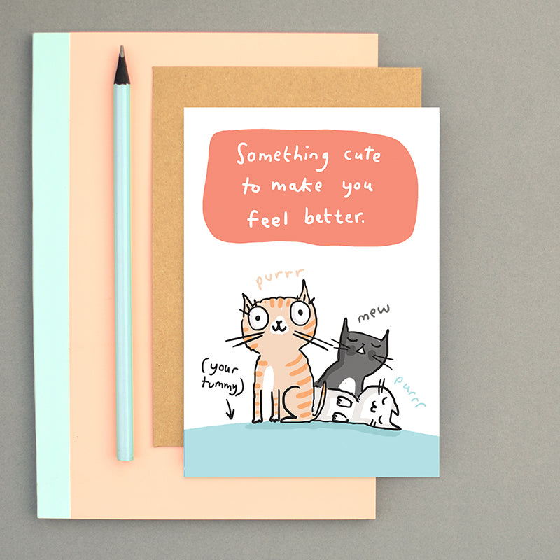 Something cute Get Well Card