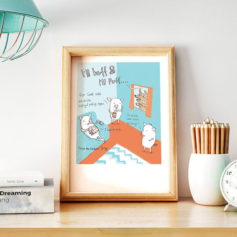 Three Little Pigs Print