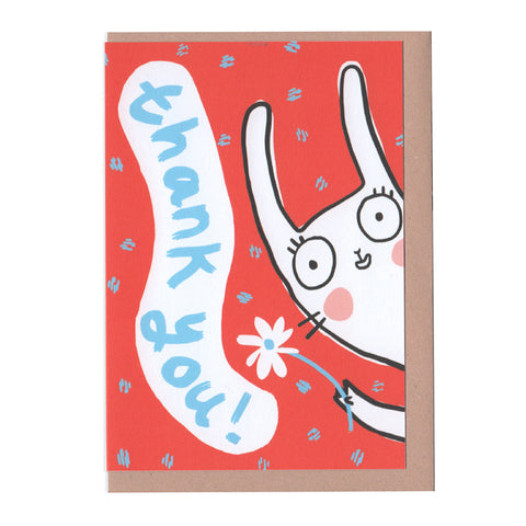 Rabbit Thank You Card