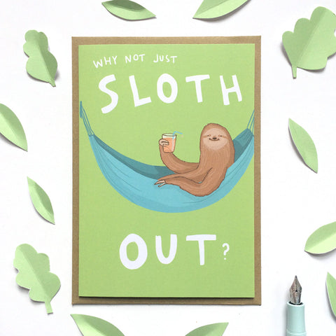 Sloth Out Card