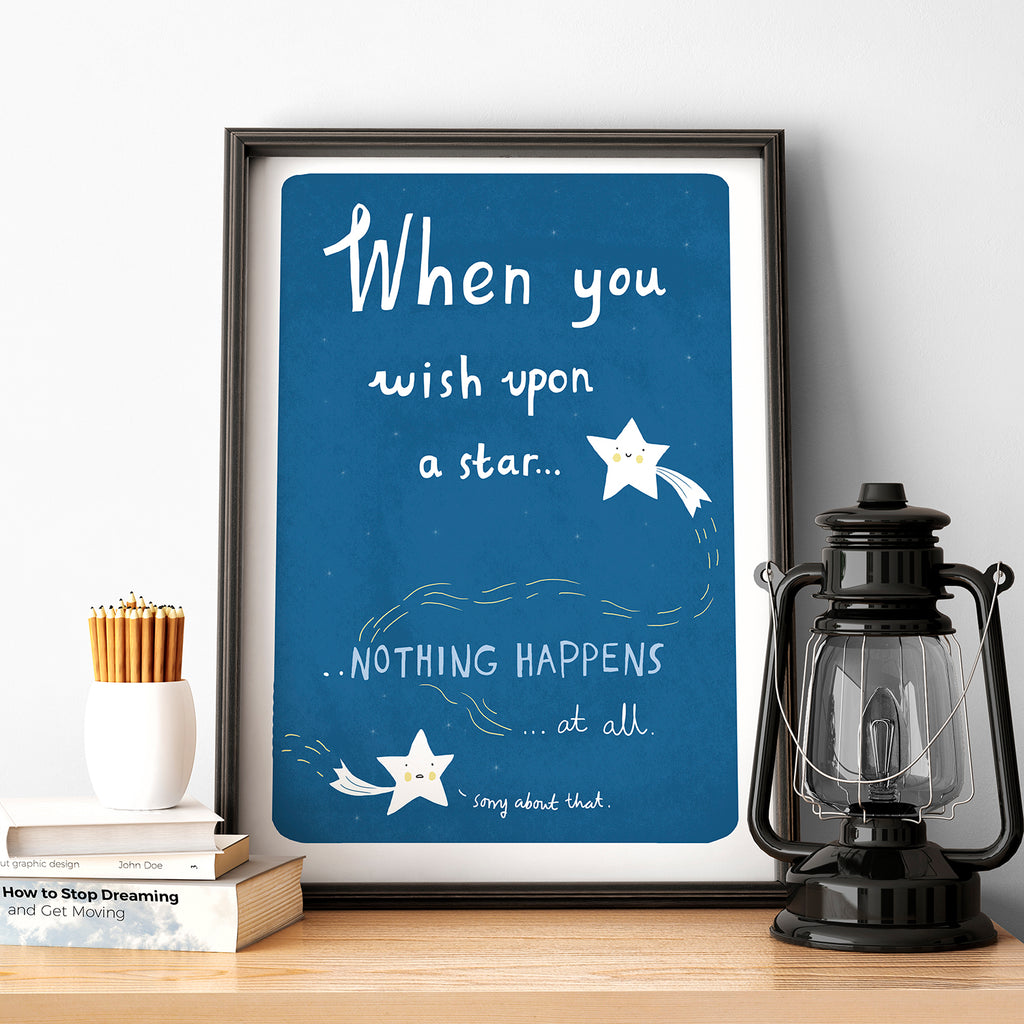 Wish upon a star print