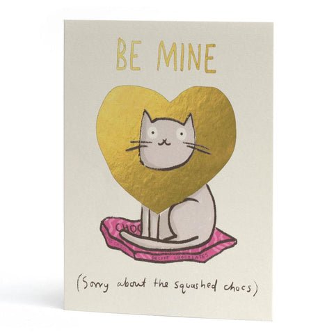 Be Mine Cat Foiled Card