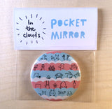 In the Clouds Pocket Mirror