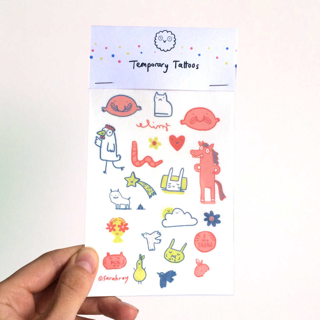 Fun Coloured Temporary Tattoos