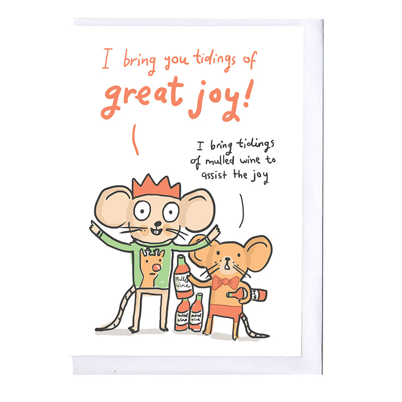 Bring you tidings of great joy Mouse Christmas card