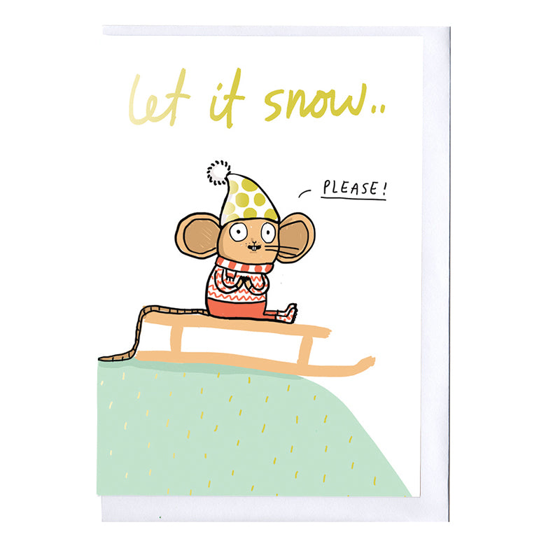 Let it Snow Foiled Christmas Card PRE-ORDER