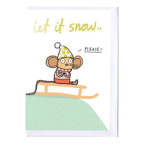 Let it Snow Foiled Christmas Card