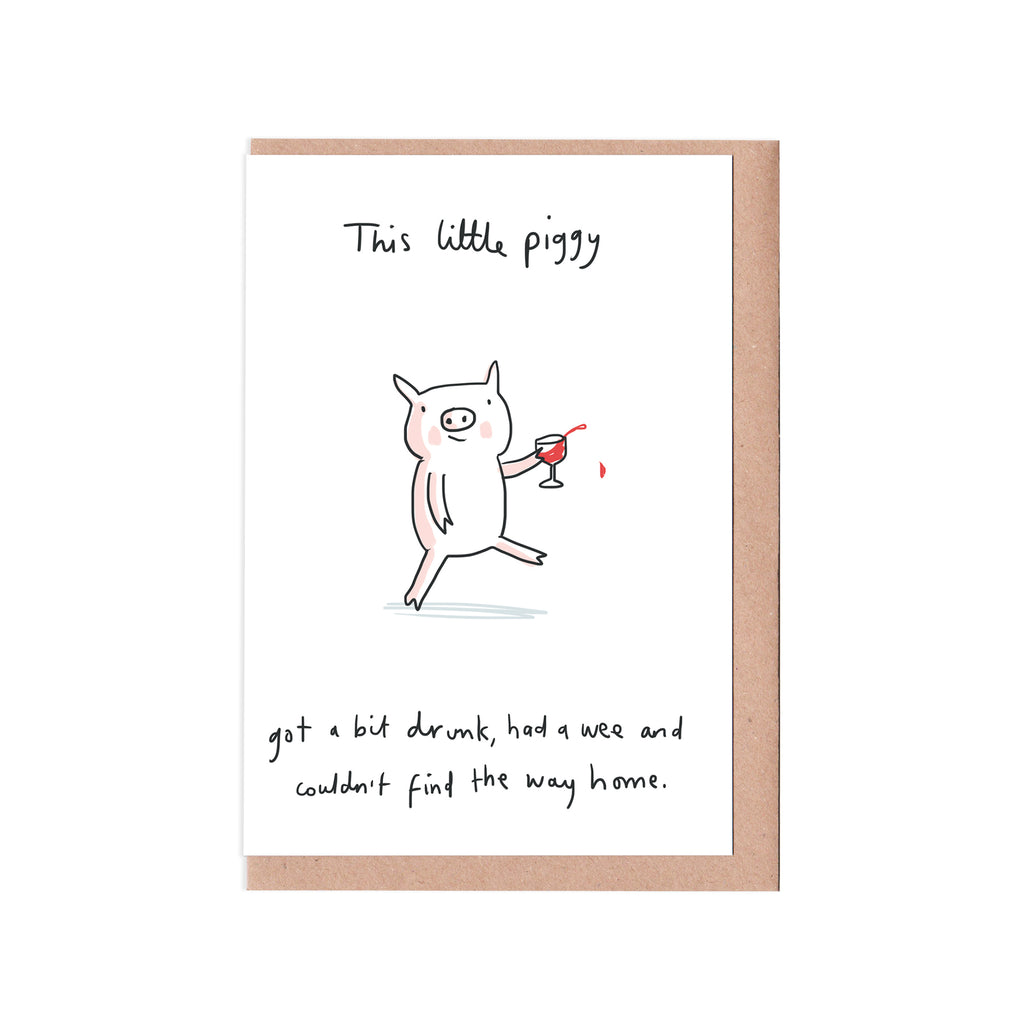 This little piggy card