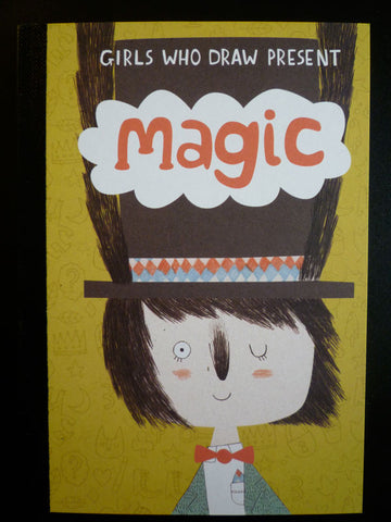Girls who Draw MAGIC postcard book