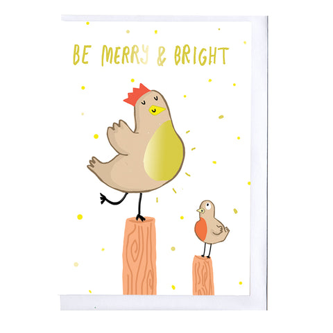 Merry & Bright Foiled Christmas Card