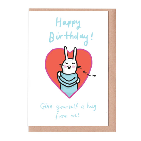 Hug Yourself Birthday Card