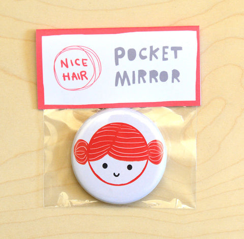 Red Buns Pocket Mirror