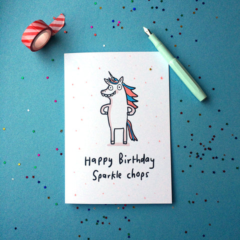 Sparkle Chops birthday card