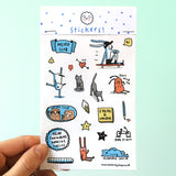 Fun Quirky Sticker Sheet
