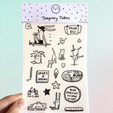 Fun Weird Club Temporary Tattoos