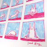 Yoga rabbit print