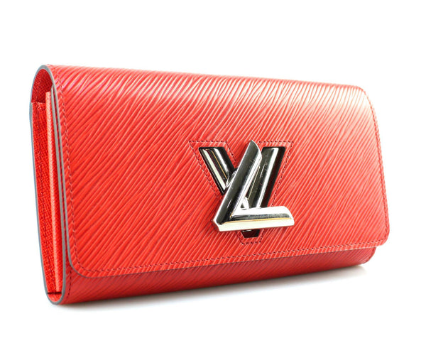 Louis Vuitton Epi Leather Twist Wallet Coquelicot TN4188