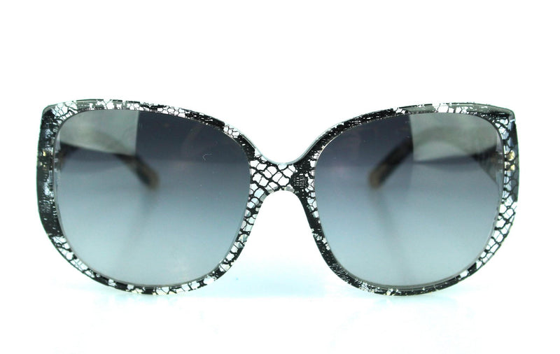 Dolce And Gabbana Lace Detail Over Size Sunglasses