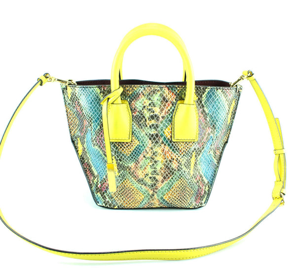 Stella McCartney Cavenish Faux Python Small Tote
