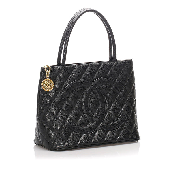 Chanel Vintage Caviar Medallion Tote Bag GH 1997/99