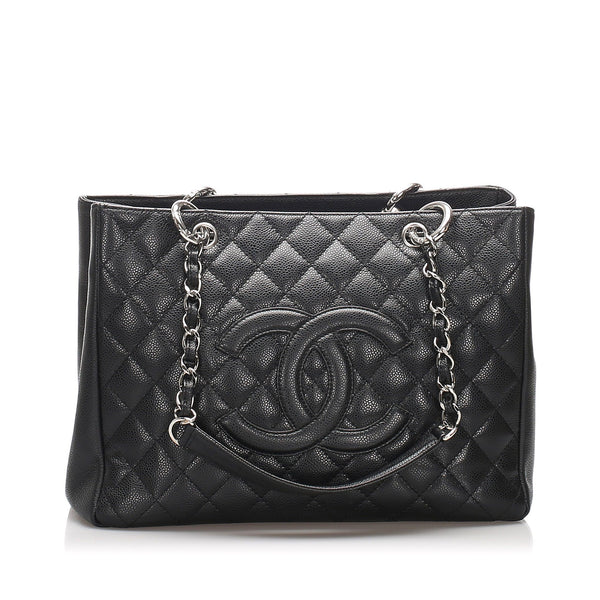 Chanel Black Caviar Grand Shopping Tote 2008/09