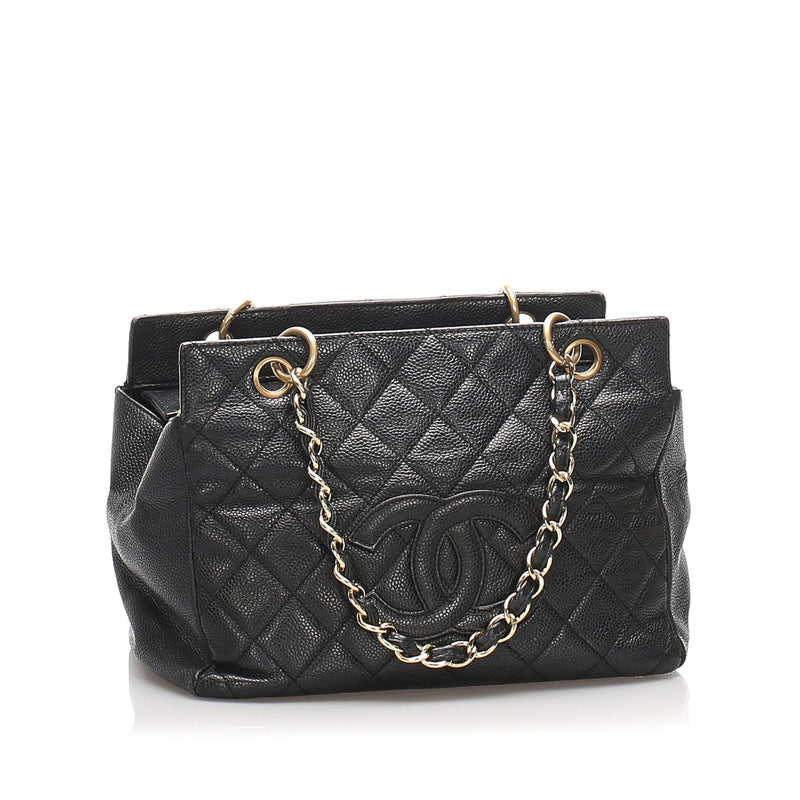 Chanel Black Caviar Leather Petite Timeless Tote GH