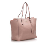 Leather Swing Tote Bag Image# 2