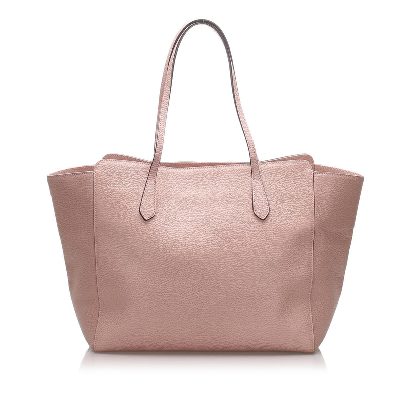 Leather Swing Tote Bag Image# 3