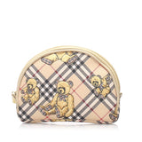 Burberry Limited Collection Nova Check Bears Canvas Pouch