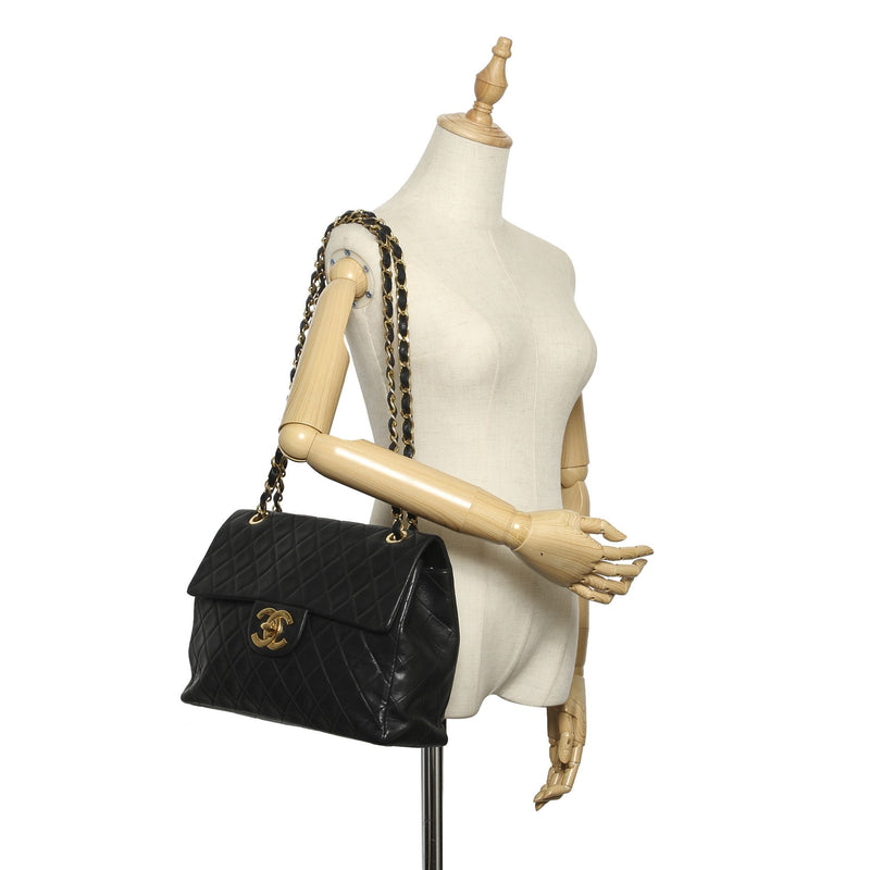Chanel Vintage Maxi Classic Lambskin Single Flap Bag 1989/91