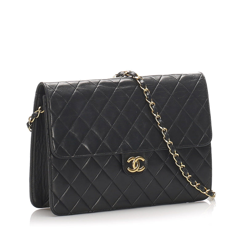 CC Timeless Lambskin Leather Single Flap Bag Image# 2