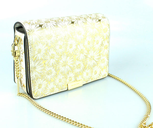 Michael Kors Jade Gold Floral Chain Clutch