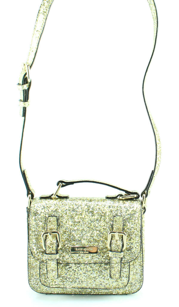 Kate Spade Scout Gold Glitter Satchel X Body
