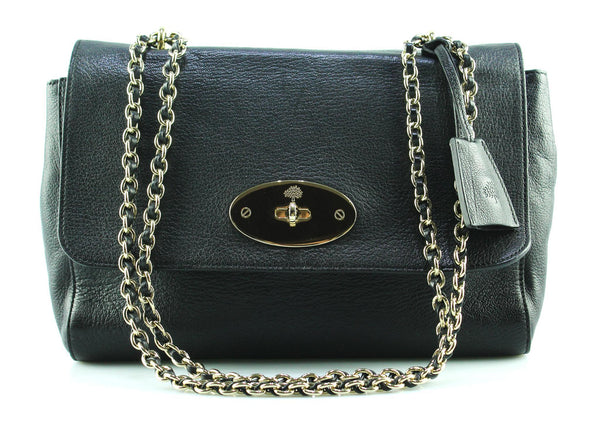 Mulberry Black Glossy Goat Med Lily GH