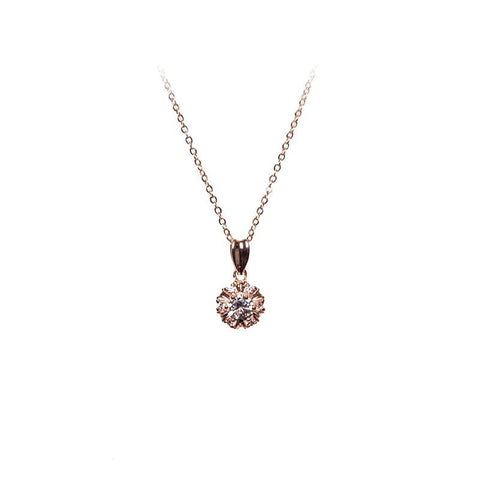 Love Lift Cubic Zirconia Pendant Necklace Rose Gold