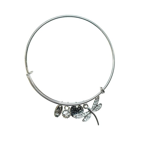 Love Lift Dragonfly Bangle Silver