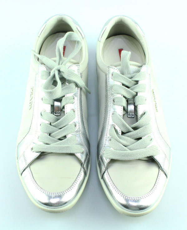 Prada Sport Line Sneakers Grey Leather/Nylon EUR 38.5