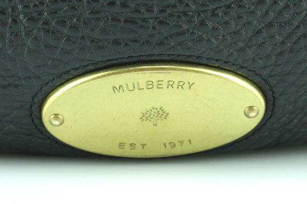 Mulberry Black Small Spongy Leather Mitzy Brass