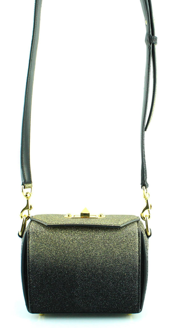 Alexander McQueen Degrade Leather Gold Glitter Box Bag